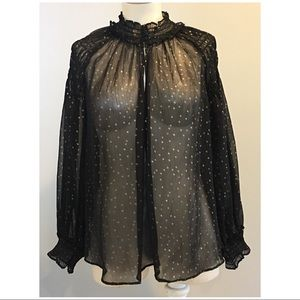 Black and gold LOFT blouse